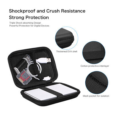 £2.99 • Buy 2.5Inch Carry Case Cover Pouch USB External Hard Disk Drive HDD PC Laptop Travel