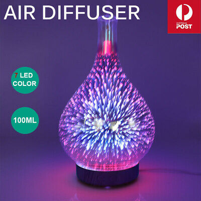 AU31.85 • Buy Devanti Aromatherapy Diffuser 3D Aroma Essential Oils Ultrasonic Air Humidifier