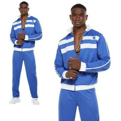 Shell Suit Costume Scouser Tracksuit 80s Adult Mens Retro Fancy Dress Outfit • 13.99£