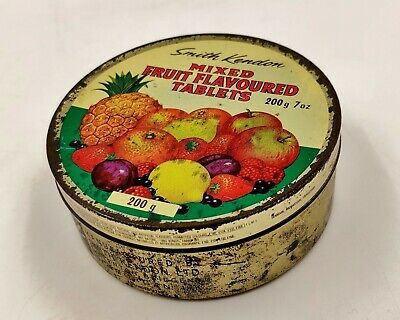 Vintage Confectionery Tin-Smith Kendon Mixed Fruit Flavour Tablets-Travel Sweets • 6.99£