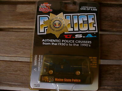 $5.99 • Buy Racing Champions Police U.S.A. Maine State Police Car SEALED BLISTER 1999