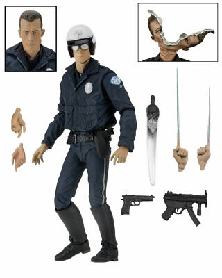 Terminator 2 Ultimate T-1000 (Motorcycle Cop) Action Figure Neca - Official • 38.95£