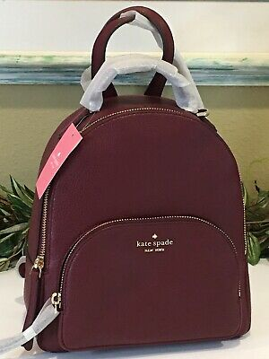 $ CDN178.61 • Buy Kate Spade Jackson Medium Backpack Tote Bag Cherrywood Wine Merlot Leather $359