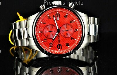 ➤➤Invicta Men's 48mm SPECIALTY MILITARY Quartz Chrono Glass Fiber Red Dial Watch • 44.95£
