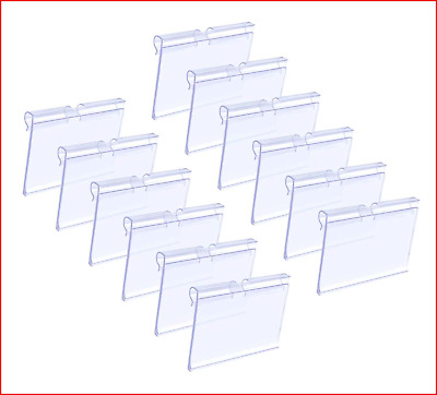 £14.14 • Buy Matogle 70pcs Clear Plastic Label Holders Sign Display Holder For Retail Price