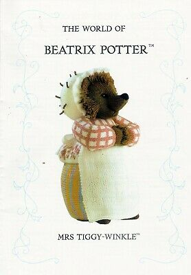 Beatrix Potter Mrs Tiggy Winkle  Tdb  Toy Knitting Pattern  • 20£