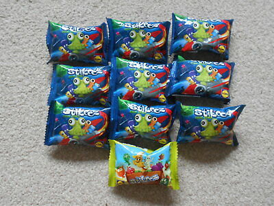 STIKEEZ FROM SPACE Lot Of 9 Mini Collectable Toys LIDL Sealed In Packet • 5.99£