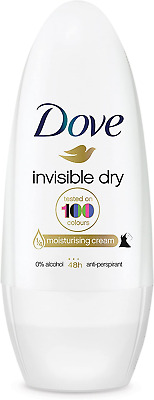 Dove Invisible Dry Anti-Perspirant Deodorant Roll-On, 50 Ml, Pack Of 6 • 8.21£