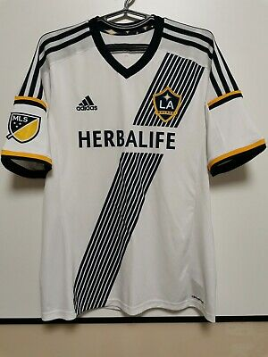 Size L Los Angeles Galaxy 2015-2016 Home Football Shirt Jersey • 40£