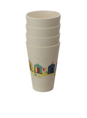 £11.50 • Buy Eco Friendly,Bamboo Composite,Set Of 4 Beach Hut Cup,BPA Free.Kids,Picnic,Camper