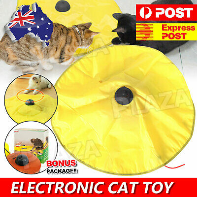 AU21.95 • Buy Electronic Interactive Cat Toys Cat's Undercover Fabric Moving Mouse Fun