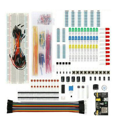 Electronic Component Basic Starter Kits 65 Jumper Wire Buzzer For Arduino Set • 14.60£