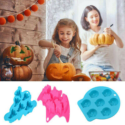 £3.19 • Buy Halloween Xmas Silicone Ice Cube Cake Mould Mold Decor Chocolate Cookie Baking