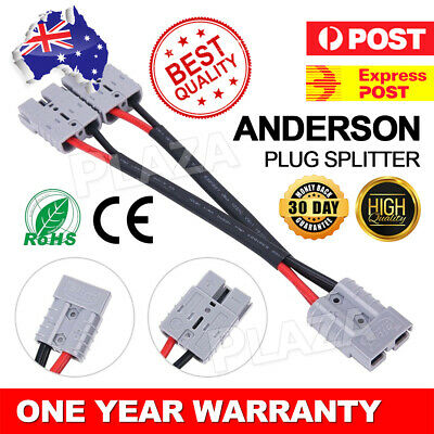 AU14.95 • Buy 50 Amp Anderson Plug Connector Double Extension Adaptor 6mm Automotive Y Cable