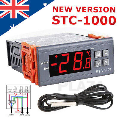 AU19.95 • Buy 220-240V LCD Digital Temperature Controller Thermostat With Sensor STC-1000