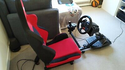 Open Wheeler Racing Sim Simulator Seat, Pedal Supports And Gear Shifter Mount • 175£