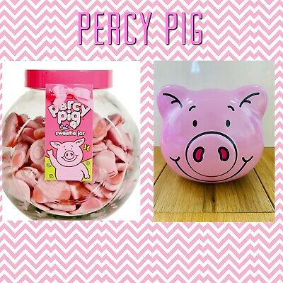 M&S Marks And Spencer Percy Pig Sweets Glass Sweetie Jar 1kg & Biscuit Tin • 39.99£