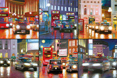 Neil Dawson  Night Time In The City  Limited Edition Signed Box Canvas Print • 195£