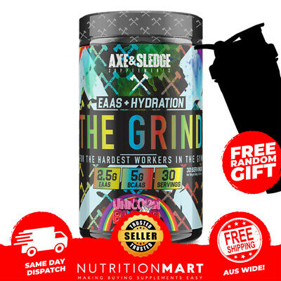 AU64.95 • Buy Axe & Sledge The Grind EAA BCAA + Hydration 30 Serves Recovery Post Workout