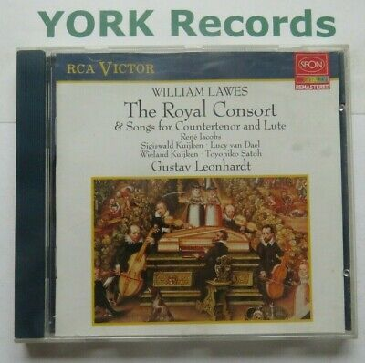 WILLIAM LAWES - Royal Consort & Songs For Countertenor & Lute  - Ex  Con CD RCA • 4.99£