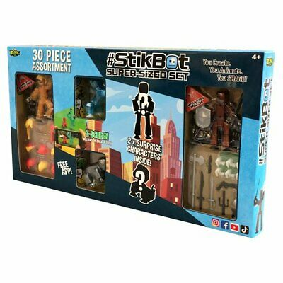 Stikbot Super-sized Set Hair Styling Weapon Action Pack Surprise Figure Playset • 29.90£