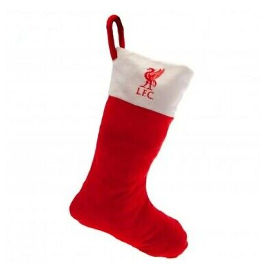 Liverpool FC OFFICIAL Christmas Stocking Football Decoration Red White Team • 7.99£