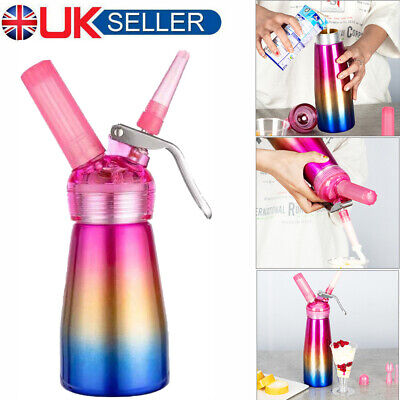 Pro Whip Whipped Cream Charger 250ml Whipper & Dispenser + 3 Piping Nozzles Tool • 18.99£