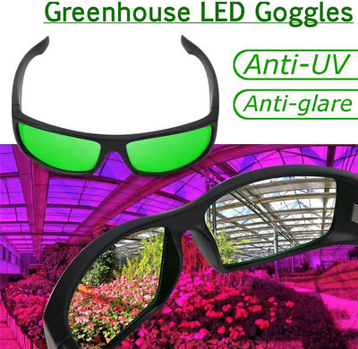 LED Grow Light Glasses Indoor Hydroponic Room Plant Visual Eye Protection UV FT • 16.20£