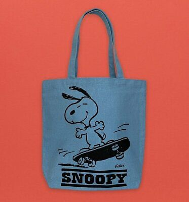 Official Peanuts Start Acting Sensible Canvas Snoopy Tote Bag • 24.99£