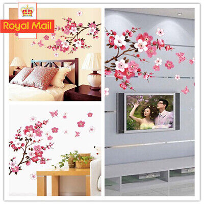 £4.88 • Buy Large Cherry Blossom Flower Butterfly Tree Wall Stickers Art Decal Home Decor UK
