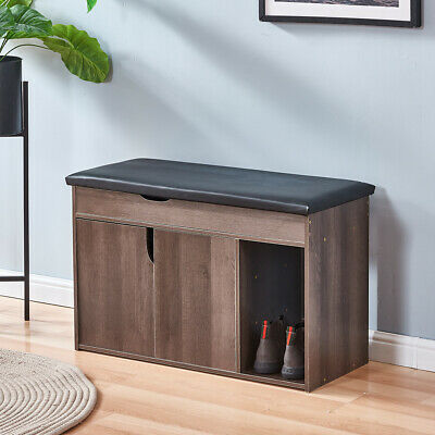 Shoe Bench Shoe Rack Storage Cabinet Hall Bench With Seat Cushion Home Hallway  • 47.99£