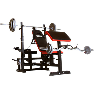 Fully Body Train Weight Bench Home Gym All Bodybuilding Exercises Adjustable  • 269£