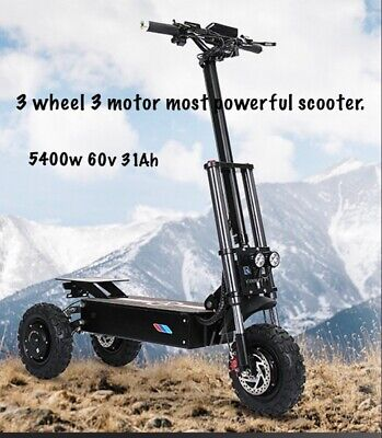 $ CDN3720.12 • Buy 3 Wheeler 3 Motor 5400W 60V 31AH Most Powerful Electric Scooter.