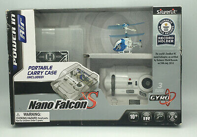 £90.51 • Buy Silverlit Nano Falcon XS Remote Control Helicopter Blue 3 Channel RC Model - New