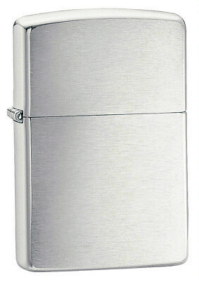 AU31.99 • Buy New ZIPPO Windproof Lighter 200 Brushed Finish Chrome Silver. 90200. 100%Genuine