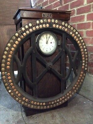 IBM Dey Type Time Wheel Recorder Clock In Oak Case. Watsons Of Belgium. • 349£