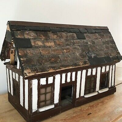 Antique Early 20th Century Architectural Model Of A Cottage • 175£