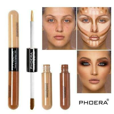 PHOERA Sculpt & Highlight Concealer Contour Foundation Dual Face Shadow Stick UK • 3.89£