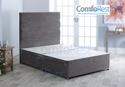 "PREMIUM DIVAN BED BASE + 54"" Horizontal Headboard - MADE IN UK • 279£"