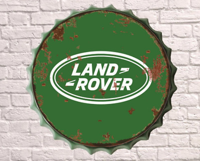 40cm Land Rover Car Vintage Retro Wall Display Sign Metal Bottle Top Cap Art  • 13.25£