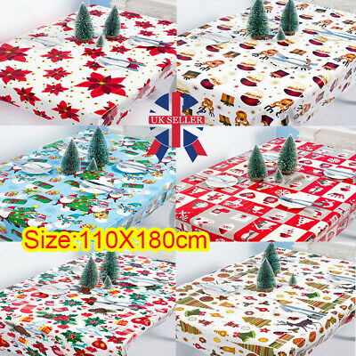 Wipe Clean Tablecloth Pvc Oilcloth Vinyl Wipeable Table Cloth Cover Protector • 2.78£