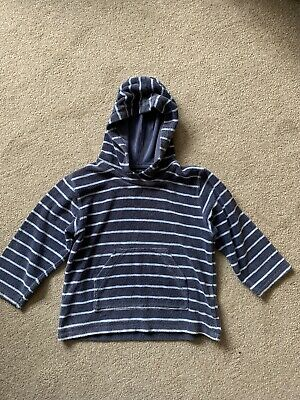 Mini Boden Towelling Beach Hoodie / Cover Up , Blue Stripe Age 3-4 • 3.99£