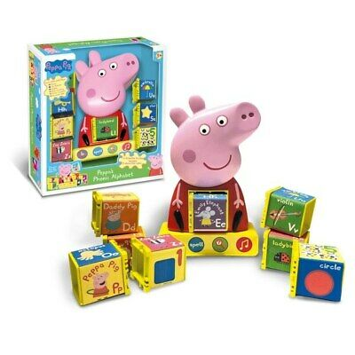 Original Pigs 4 Activity Phonic Alphabet With 8 Interactive Cubes Top Quality • 26.89£