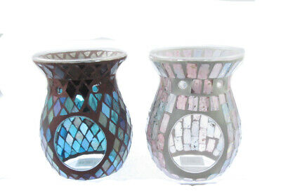 Yankee Candle  Glass Mosaic Hot Wax Melt Burner Choice • 12.90£