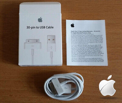 Genuine Boxed Apple IPhone 4S IPod 30-Pin To USB Data Charger Cable Lead • 2.95£