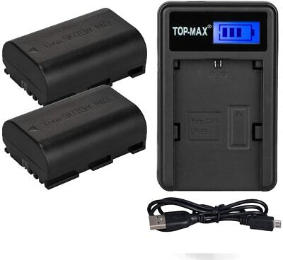 2x LP-E6 Battery + Charger For Canon EOS 5D 7D 60D Mark II 80D 1830mAh • 14.99£