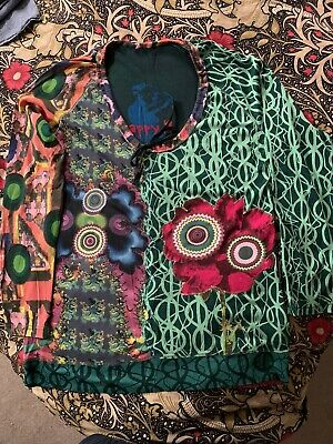 Desigual Ladies Top XL 16 NEW Multi Coloured Long Sleeved • 27£