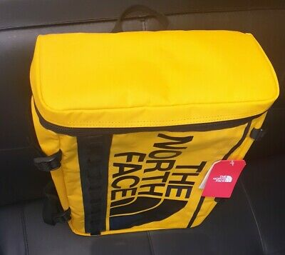 🔥 RARE The North Face Fuse Box Backpack / Yellow Rucksack Base Camp Bag / 30 L • 125£