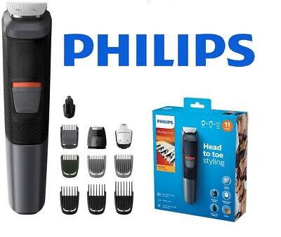 AU88.78 • Buy Philips Multigroom Series 5000 MG5730/33 - 11 In 1 Face Hair & Body Trimmer
