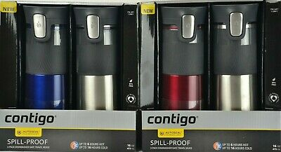 AU29.99 • Buy Contigo Stainless Steel Vacuum Travel Mugs Thermos Flask Water Bottle 473mL